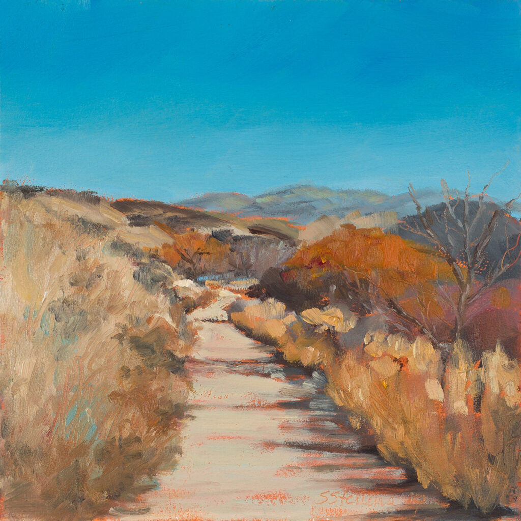 painting of foothills trail