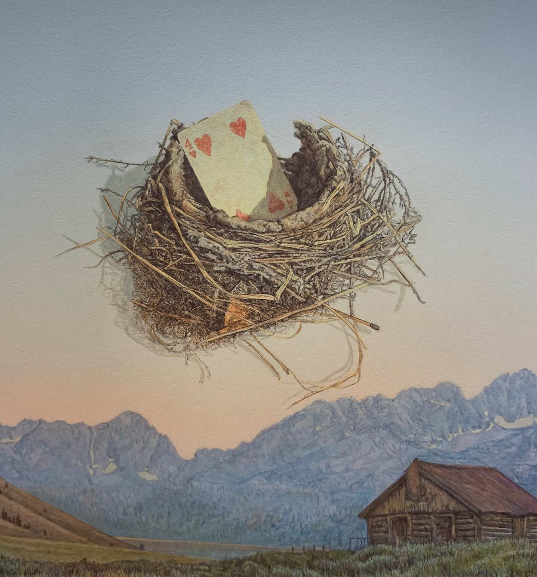 """""""Home is Where the Heart is"""" by Randy Van Dyck, 12x12"""""""