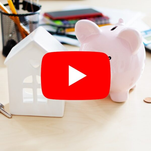 piggy bank, house and keys