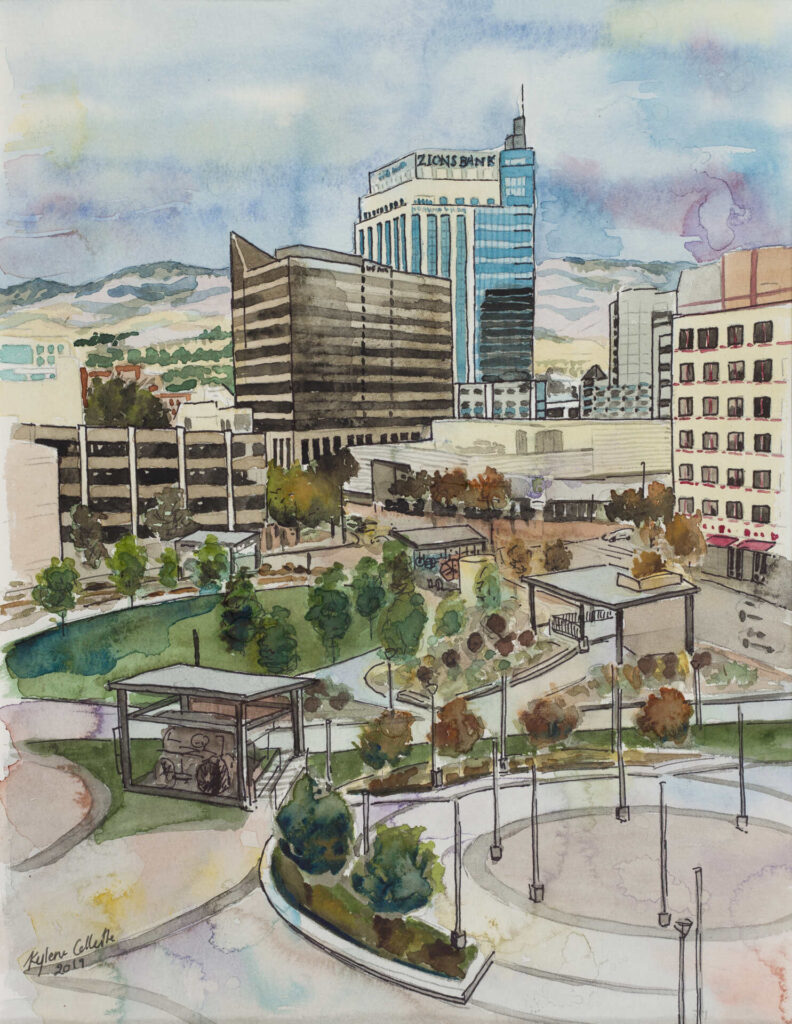 watercolor of JUMP site in Boise