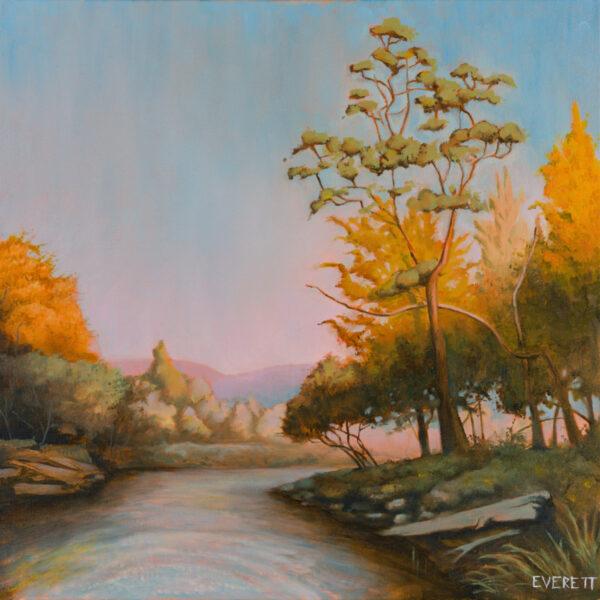 """Sunrise on the Boise River"" by Everett Marsland Smith, 18x18"""
