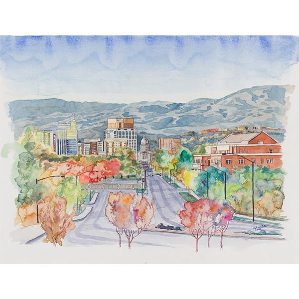 """Boise Fall"" by Kylene Collette, 13x17"""