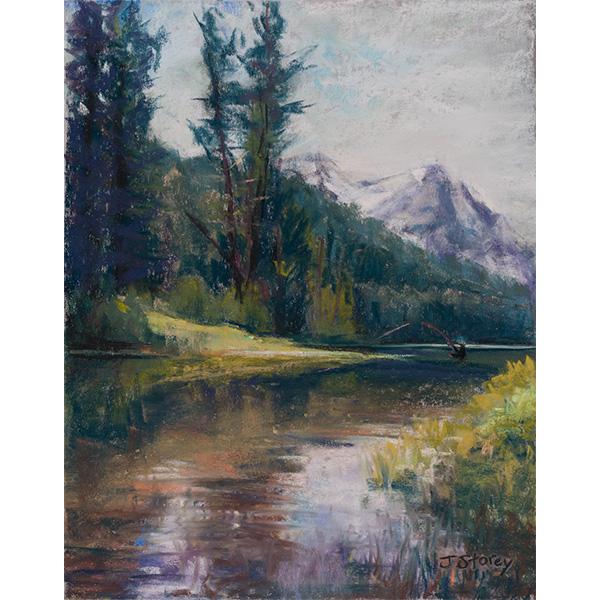 """""""Fishing in Stanley"""" by Jill Storey, 14x11"""""""