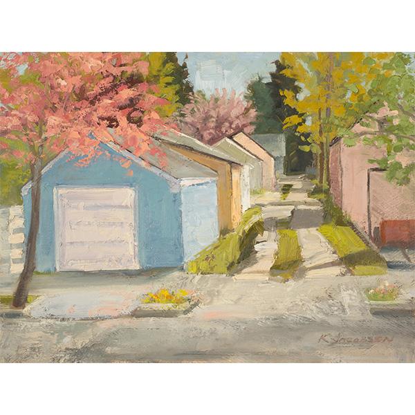 """""""Boise Alleyway"""" by Karen Jacobsen, 9x12"""""""