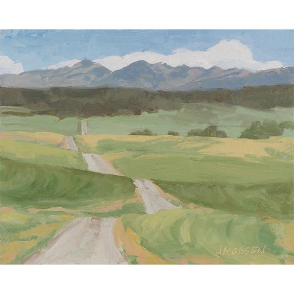 """""""Rolling Road"""" by Karen Jacobsen, 8x10"""""""