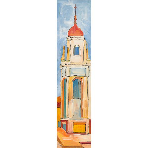 """European Tower"" by Jany Rae Seda, 18x4"""