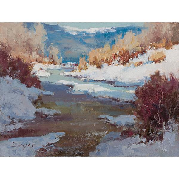 """Winter River"" by Allie Zeyer, 9x12"""